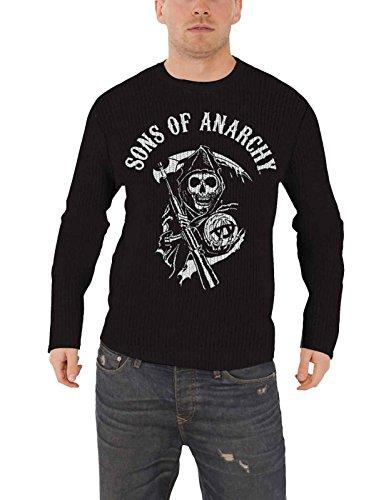 Sons of Anarchy Jumper Sweater Reaper Skull Logo Nue offiziell Herren