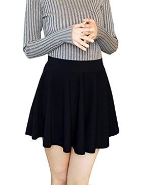 Minetom Mujer Chicas Delgado Minifalda Verano Moda Corto Vestidos Falda Color Del Caramelo