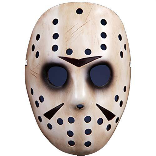 Halloween Weihnachts Maske Film Thema Maske Jason Maske Freddy Wars Jason Thema Maske Masken (Color : Brown, Size : 17 * 23CM/7 * 9inch)