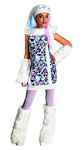 Brandsseller Monster High Abbey Bominable Kinderkostüm Mädchenkostüm Karneval Fasching - Größe: (Abbey Bominable Monster High Kostüm)