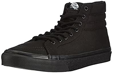 Vans Sk8-Hi Slim, Unisex-Adults' High-Top Trainers, Black/black, 4 UK