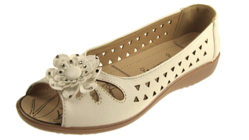 Dr Lightfoot , Mary Janes pour femme Blanc - blanc
