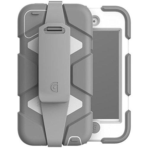 Griffin Survivor All-Terrain Schutzhülle für Apple iPod Touch 5. & 6. Gen - Weiß/Grau [Gürtelclip I Militär-Standard I Displayschutzfolie I Extrem widerstandsfähig] - GFB-001-WHT