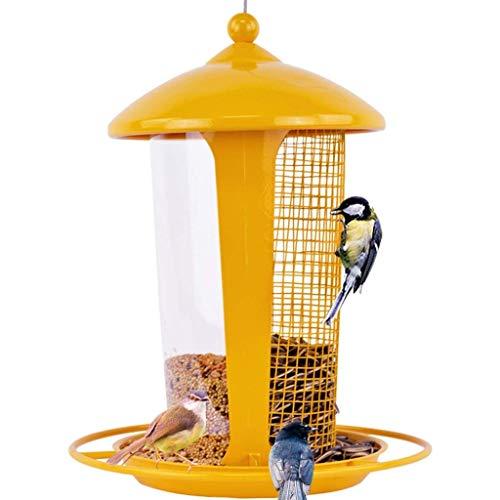 HYX Gelber Backlack Metall Vogelhäuschen Hängende Vogelhäuschen für den Garten  Nuts Seed Multipurpose Bird Feeding Station Tischablage - Wild Bird Feeding Station