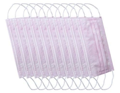 Mundschutz rose/pink 10 Stück in Packung dreilagig - sehr weich - Staubschutzmaske Mund- und Nasenschutz