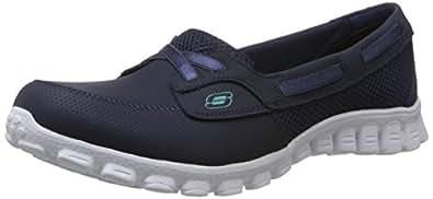 Skechers Women's EZ Flex 2 - Navigate Navy Blue Mesh Multisport Training Shoes - 3 UK/India (36 EU) (6 US)