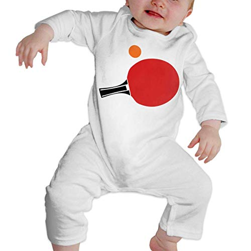 (Moniery Table Tennis Racket Ball Long Sleeve Romper Bodysuits for Baby Boy's)