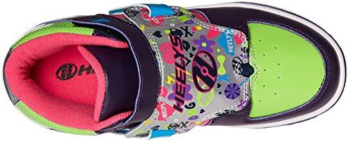 Heelys X2 Tornado, Chaussures de Tennis Fille Violet (Purple / Neon Multi)