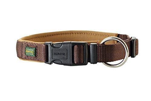 HUNTER Neopren Vario PlusHalsung, Halsband für Hunde, Nylon, mit Neopren gepolstert, 40/2,0, braun/karamell