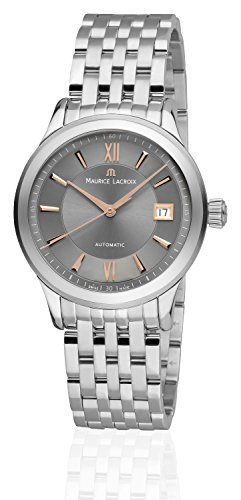 Maurice Lacroix Men's Automatic Watch Les Classico Techniques Date Analogue Automatic Stainless Steel Case Stainless Steel Sapphire Glass Anthracite Roman Dial Swiss Made LC6027 SS002 310 1