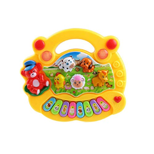 Sen-Sen Kinderspielzeug Electronic Organ Farm Musikinstrument Baby Enlightenment gelb Farm Music Box