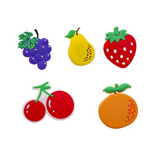 UPKOCH 5pcs Früchte Kühlschrank Kühlschrankmagnete Message Post Magnet für Whiteboard (Erdbeer-kühlschrank-magnete)