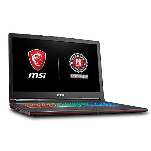 "MSI GP73 Leopard-209 17.3"" Thin and Light Gaming Laptop GTX 1070 8G i7-8750H (6 Cores) 16GB 256GB SSD + 1TB Windows 10, VR Ready, Windows 10 64 bit"