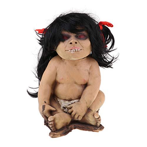 Baoblaze 1 Stück Schreckliche Babypuppe Geisterpuppe Halloween Requisiten Dekoration - # 5