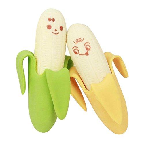 Rub-creme (Winkey 2Cartoon Banana Fruit Stil Gummi Bleistift Radiergummi Office Stationery Geschenk Spielzeug für Kinder)
