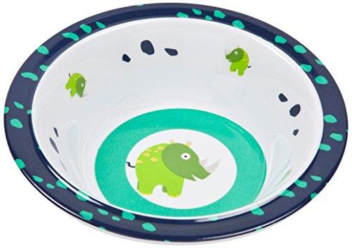 Lässig Dish Bow Melamin Schüssel aus 100% Melamin BPA-frei und rutschfest, Wildlife Rhino