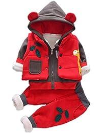 0950ead34 ARAUS 0.5-5 Años Niño Niña Patrón Tops Pantalones Vestimenta Otoño Invierno  Ropa Conjuntos