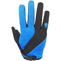 DEI QI Comodidad del otoño Transpirable Usable Guantes de Dedo Completo Guante de montaña de Dedo Largo Equipo de equitación con Pantalla táctil Guantes (Color : Azul, Size : XL)