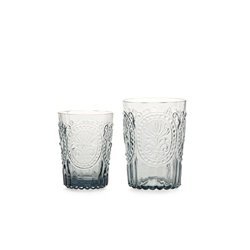 Van Verre Trinkglas Fleur de Lys, grau, S (Bild links)