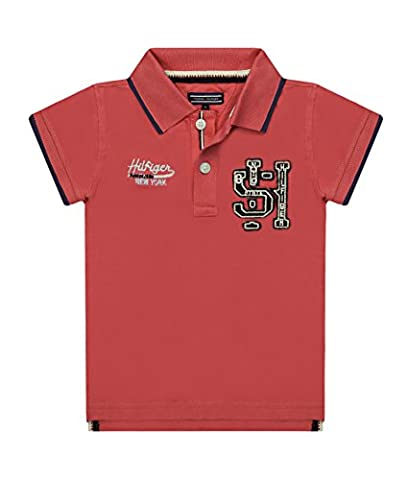 Tommy Hilfiger Boys Badge Polo Shirt Cayenne Red