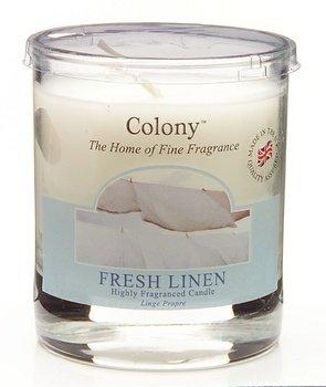 Leinen Duftkerze (Duftkerze im Glas, klein - Fresh Linen (Feines Leinen) 35 h)