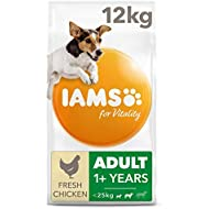 IAMS for Vitality Adult Dog Food Small/Medium Breed with Fresh Chicken, 12 kg