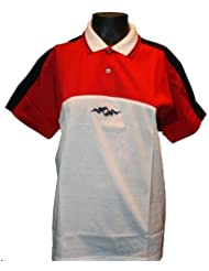 Lotto Poloshirt Generation S junior, Kinder, creme weiß / rot / marineblau