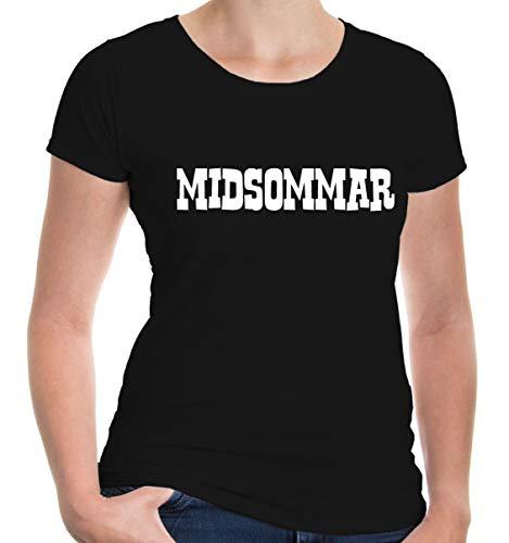 buXsbaum Girlie T-Shirt Midsommar-XXL-Black-White