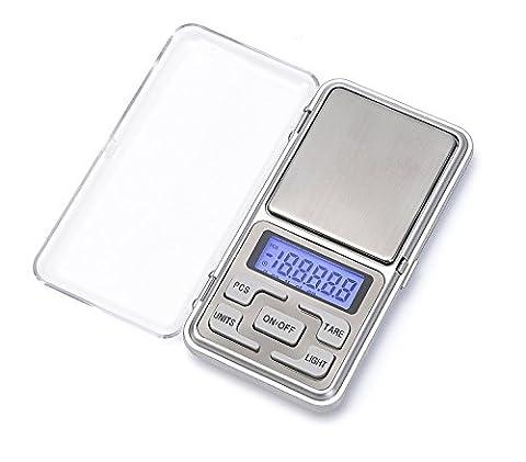 Balance électronique,500g * 0.01g Mini Balance Numérique de Poche pour les Bijoux/ le thé/ la levure/ le café Cuisine Gram