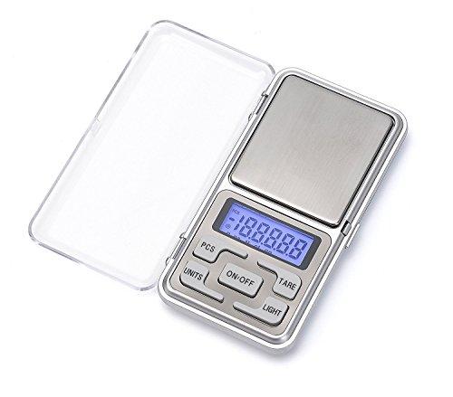 iitrust Mini bolsillo a escala digital: ✿Después de comenzar, si la pantalla [OUT2] no vuelve a cero, mueva el producto a una superficie plana y limpie los elementos en el plato de pesaje. Ventaja: ✿Preciso, pequeño, estabilizador, seguro, ultra delg...