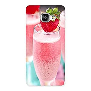 Cute Strawberry Shake Back Case Cover for Galaxy A3 2016