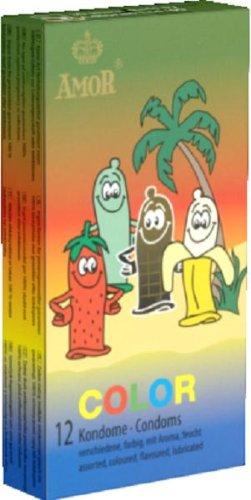 Amor Color: 12 farbige, aromatisierte Kondome