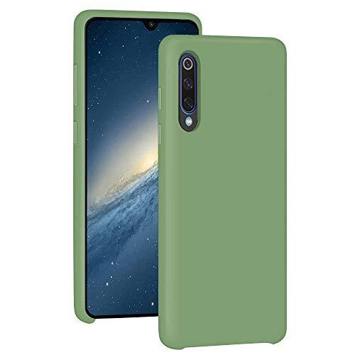 15 - Funda para Xiaomi Mi 9/Mi 9 SE Teléfono Móvil Silicona Liquida Bumper Case y Flexible Scratchproof Ultra Slim Anti-Rasguño Protectora Caso (Green, Xiaomi Mi 9 SE)