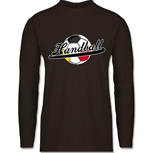 Shirtracer Handball - Handball Deutschland - Herren Langarmshirt Braun