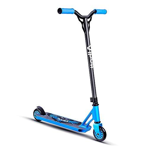 Albott Pro Stunt Scooter Roller Freestyle Stunt Roller für Kindern und Erwachsene Einsteiger ab 5 Jahremit 6061 Aluminium Deck und APEC Lager Blau