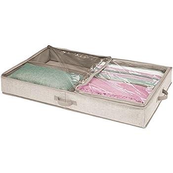 mdesign unterbettkommode mit 4 praktischen f chern unterbett aufbewahrungsbox f r kleidung und. Black Bedroom Furniture Sets. Home Design Ideas