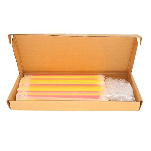 chtstäbe mit Steckern Neon Glühend Armbänder für Party Zubehör, Geburtstag, Hochzeitsandenken, Unterschiedliche Farben Leuchtstäben ()