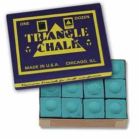 Original USA Triangel Snooker-Kreide, 12 Stück im Karton (Billard Triangle Kreide)