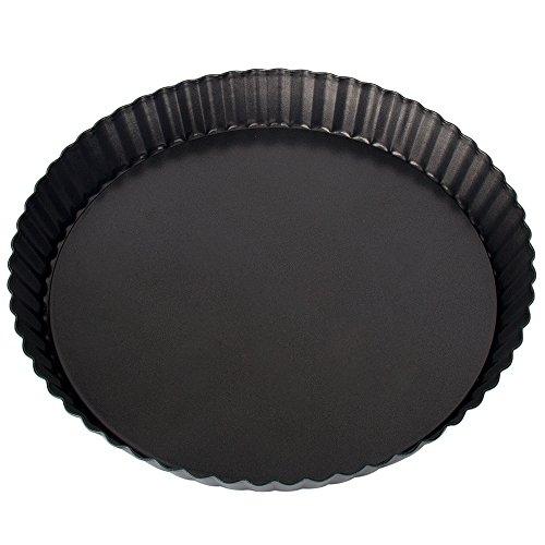 SIMINLIU Quicheform und Obstkuchenform mit Hebeboden FDA gute Antihaftbeschichtung 23CM schwarz