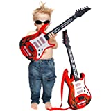 Kids Guitar Rockband For Your Upcoming Superstar By Sceva,Battery Operated Music And Lights Rock Band Guitar For Kids (Multicolor) Your Kids Will Have Fun