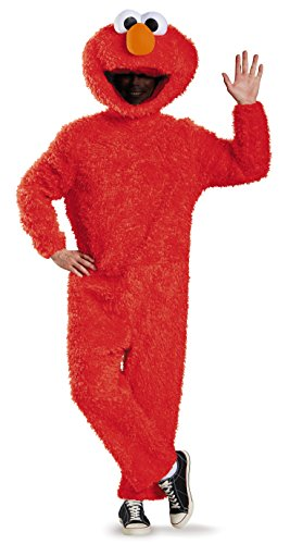 Disguise Men's Full Plush Elmo Prestige Adult - Für Erwachsene Ducky Kostüm