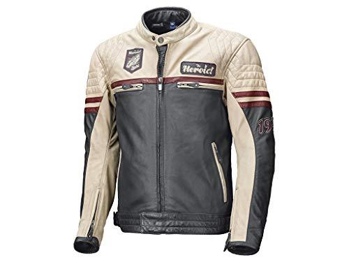 Held Motorradschutzjacke, Motorradjacke Baker Lederjacke blau/beige/Burgund 52, Herren, Chopper/Cruiser, Sommer