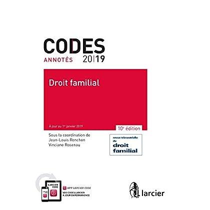 Code annoté - Droit familial - 2019: À jour au 1er janvier 2019