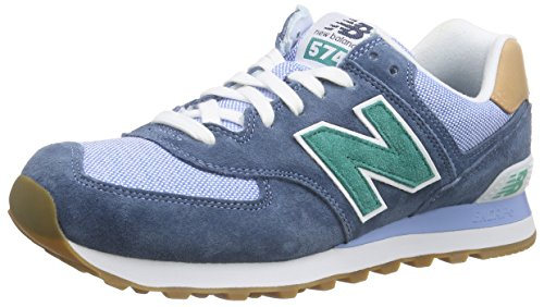 New Balance ML574, Baskets Basses Homme Bleu (Blue/Green)
