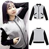 Women's Ladies Long Sleeve Casual Blazer Suit Zipper Jacket Coat Outwear M