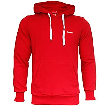 supreme italia sweat shirt capuche homme rouge small v tements et accessoires. Black Bedroom Furniture Sets. Home Design Ideas