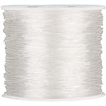 Outus 1 mm Filo Elastico Stretch di Perline Filetto Craft Fabbricazione di Gioielli Bracciale, 90m, Trasparente