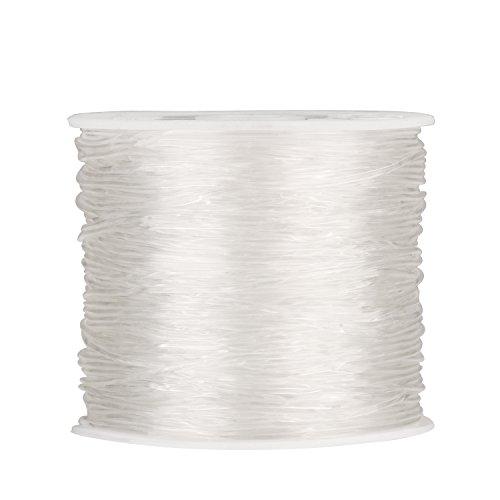 1 mm Elastisch Stretch Beading Thread Handwerk Schmuck Armband Herstellung Schnur, 90 m, Glasklar