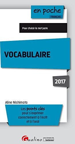 Vocabulaire 2017