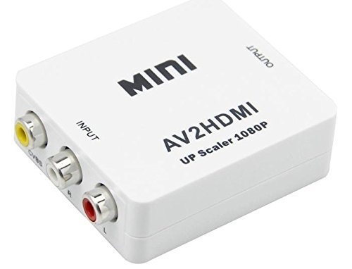 Mini Composite RCA CVBS AV to HDMI Converter For VCR DVD 720P 1080P  available at amazon for Rs.824